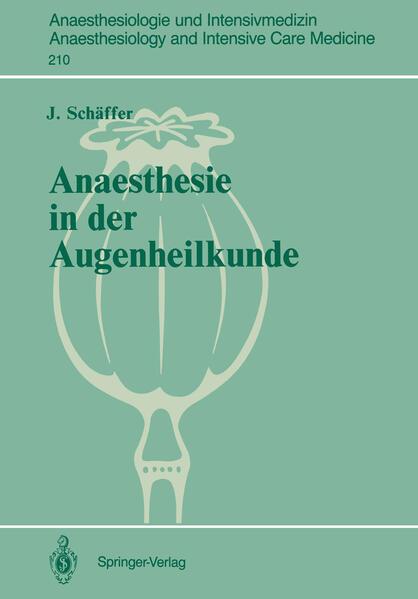 Anaesthesie in der Augenheilkunde - Coverbild