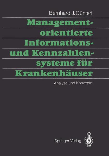Managementorientierte Informations- und Kennzahlensysteme für Krankenhäuser - Coverbild