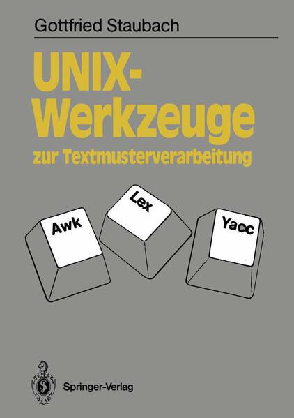 UNIX-Werkzeuge zur Textmusterverarbeitung - Coverbild