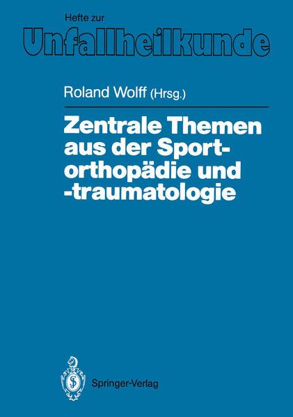 Zentrale Themen aus der Sportorthopädie und -traumatologie - Coverbild