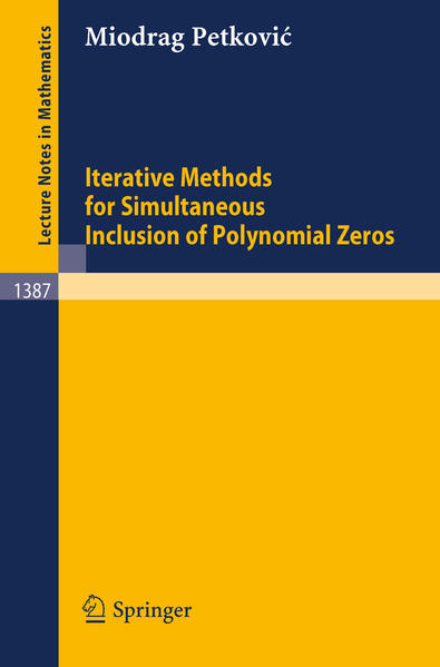 Iterative Methods for Simultaneous Inclusion of Polynomial Zeros - Coverbild