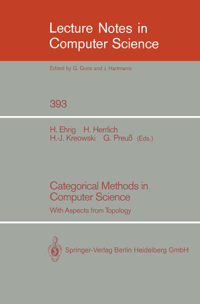 Categorical Methods in Computer Science - Coverbild