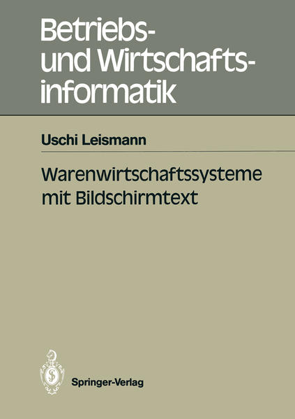 Warenwirtschaftssysteme mit Bildschirmtext - Coverbild