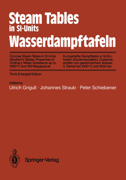 Steam Tables in SI-Units / Wasserdampftafeln - Coverbild