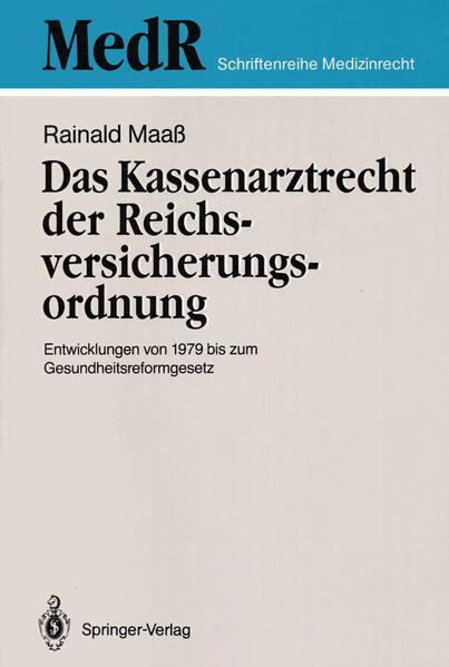 Das Kassenarztrecht der Reichsversicherungsordnung - Coverbild