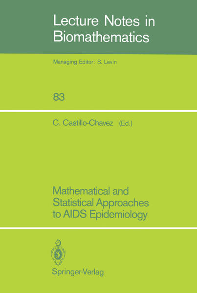 Mathematical and Statistical Approaches to AIDS Epidemiology - Coverbild