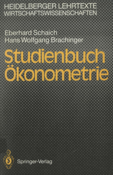 Studienbuch Ökonometrie - Coverbild