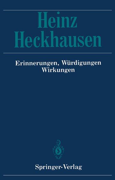 Heinz Heckhausen - Coverbild
