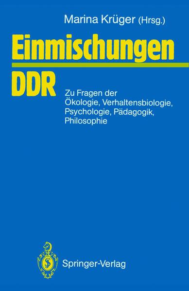 Einmischungen / DDR - Coverbild