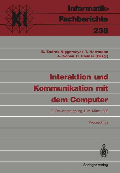 Interaktion und Kommunikation mit dem Computer - Coverbild