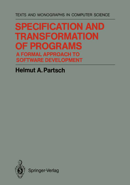 Specification and Transformation of Programs - Coverbild