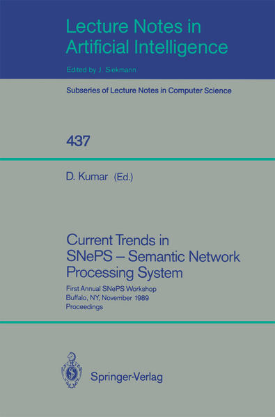 Current Trends in SNePS - Semantic Network Processing System - Coverbild
