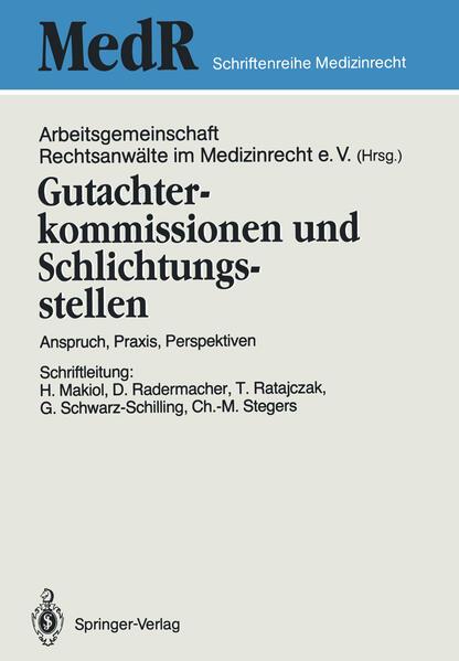 Gutachterkommissionen und Schlichtungsstellen - Coverbild