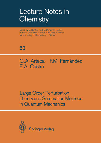 Large Order Perturbation Theory and Summation Methods in Quantum Mechanics - Coverbild