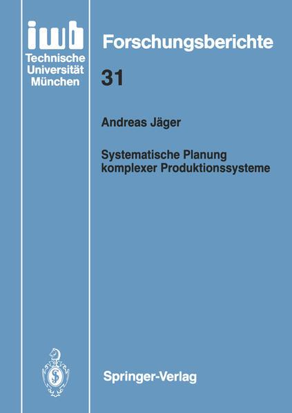 Systematische Planung komplexer Produktionssysteme - Coverbild