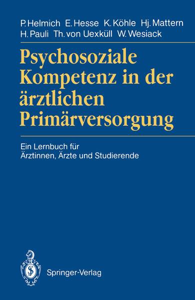 Psychosoziale Kompetenz in der ärztlichen Primärversorgung - Coverbild