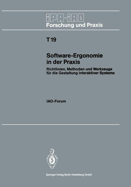 Software-Ergonomie in der Praxis - Coverbild