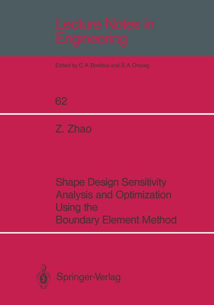 Shape Design Sensitivity Analysis and Optimization Using the Boundary Element Method - Coverbild