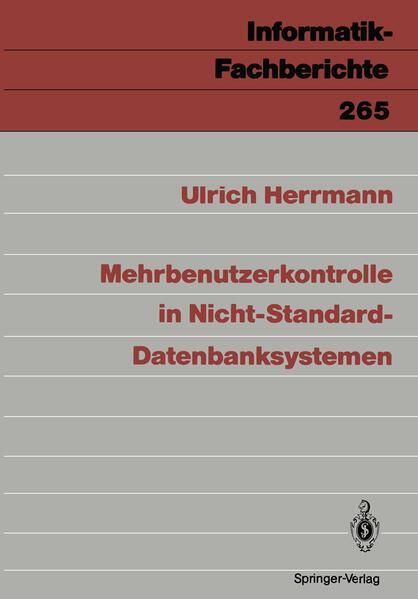 Mehrbenutzerkontrolle in Nicht-Standard-Datenbanksystemen - Coverbild