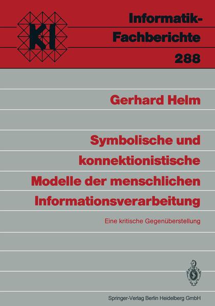 Symbolische und konnektionistische Modelle der menschlichen Informationsverarbeitung - Coverbild