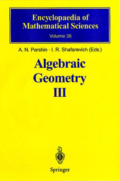 Algebraic Geometry III - Coverbild