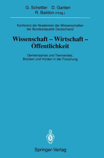 Konferenz der Akademien der Wissenschaften der Bundesrepublik Deutschland. Wissenschaft -Wirtschaft -Öffentlichkeit - Coverbild