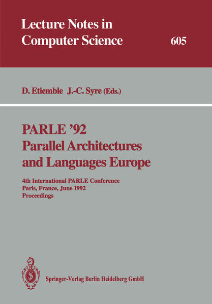 PARLE '92. Parallel Architectures and Languages Europe - Coverbild