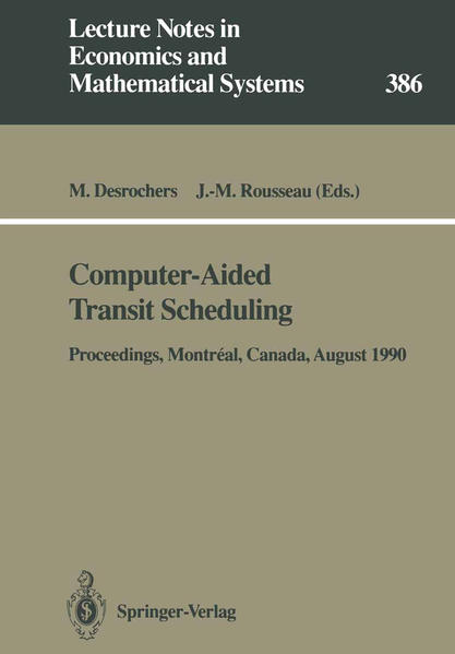 Computer-Aided Transit Scheduling - Coverbild