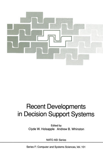 Recent Developments in Decision Support Systems - Coverbild