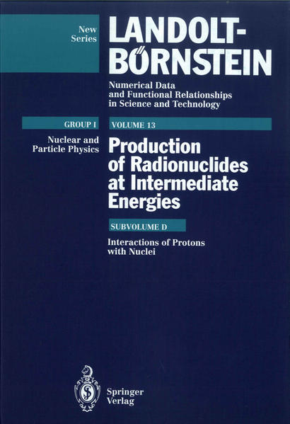 Interactions of Protons with Nuclei (Supplement to I/13a,b,c) - Coverbild