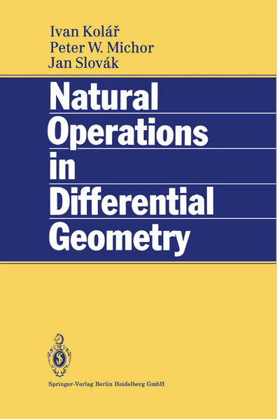 Natural Operations in Differential Geometry - Coverbild