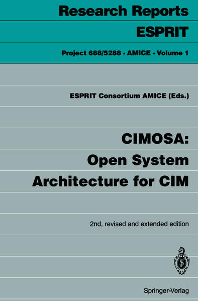 CIMOSA: Open System Architecture for CIM - Coverbild