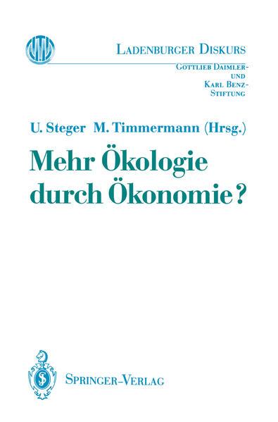 Mehr Ökologie durch Ökonomie? - Coverbild