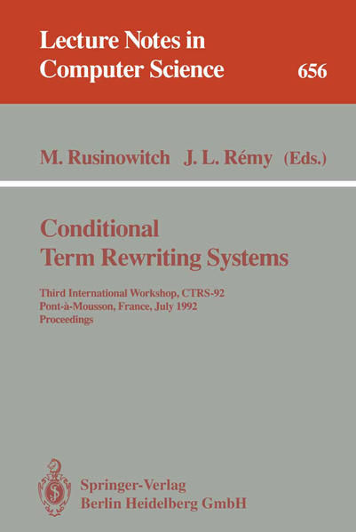 Conditional Term Rewriting Systems - Coverbild