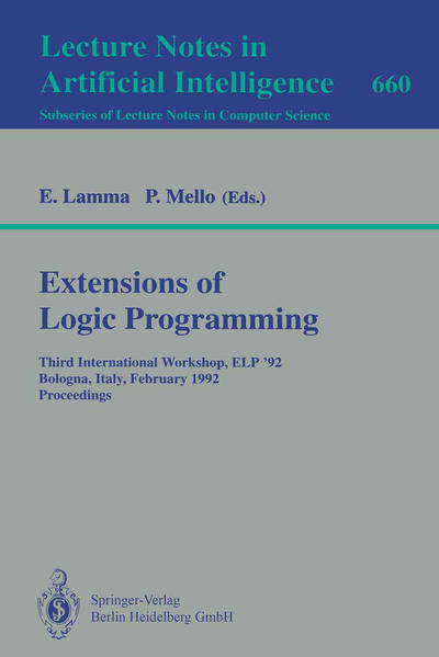 Extensions of Logic Programming - Coverbild