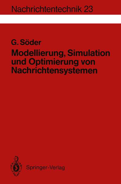 Modellierung, Simulation und Optimierung von Nachrichtensystemen - Coverbild