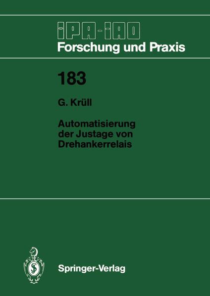 Automatisierung der Justage von Drehankerrelais - Coverbild