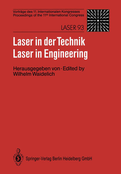 Laser in der Technik / Laser in Engineering - Coverbild