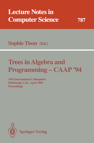 Trees in Algebra and Programming - CAAP '94 - Coverbild