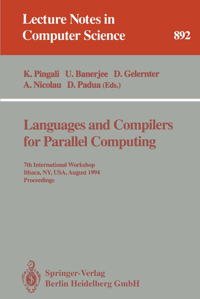 Languages and Compilers for Parallel Computing - Coverbild