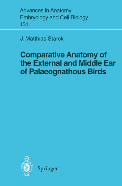 Comparative Anatomy of the External and Middle Ear of Palaeognathous Birds - Coverbild