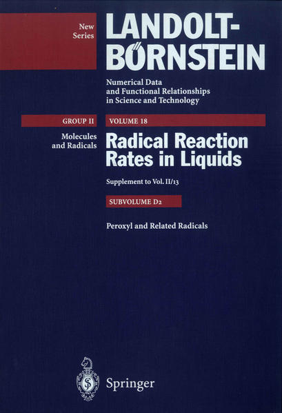 Peroxyl and Related Radicals - Coverbild