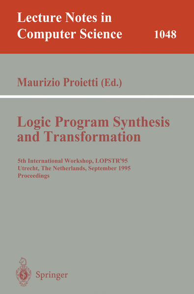 Logic Program Synthesis and Transformation - Coverbild