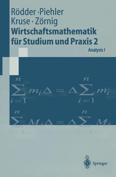 Wirtschaftsmathematik für Studium und Praxis 2 - Coverbild