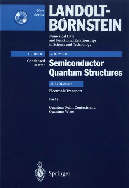 Quantum Point Contacts and Quantum Wires - Coverbild