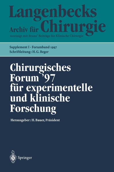 Chirurgisches Forum '97 für experimentelle und klinische Forschung - Coverbild