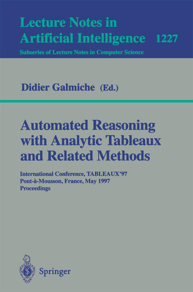 Automated Reasoning with Analytic Tableaux and Related Methods - Coverbild