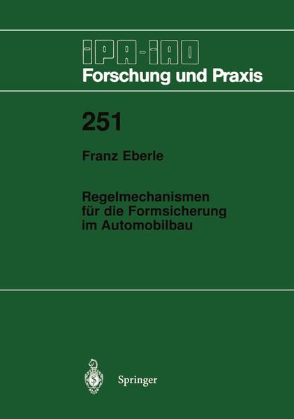 Regelmechanismen für die Formsicherung im Automobilbau - Coverbild