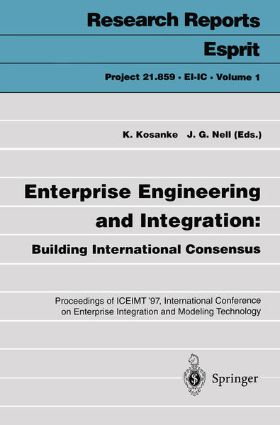 Enterprise Engineering and Integration: Building International Consensus - Coverbild