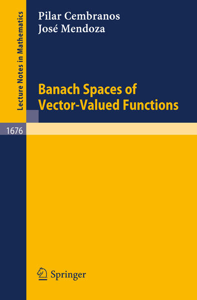 Banach Spaces of Vector-Valued Functions - Coverbild